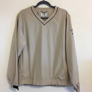 NWT CUTTER BUCK WEATHER TEC PULLOVER TAN SZ SMALL